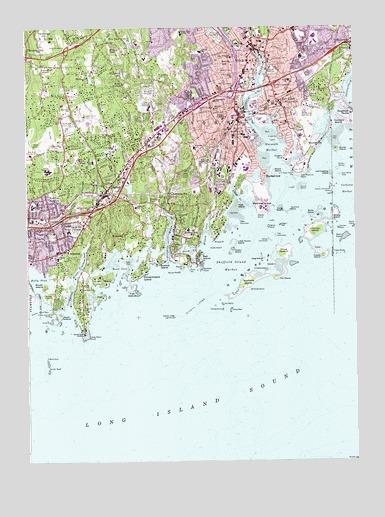 Norwalk South, CT Topographic Map - TopoQuest