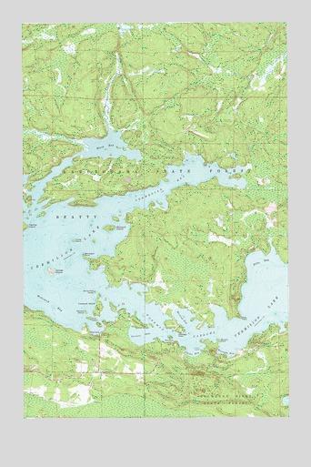 Topographic Map Of Norway.Norwegian Bay Mn Topographic Map Topoquest