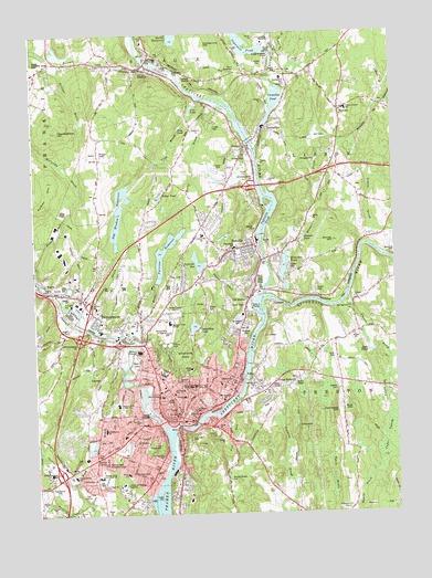 Topographic Map Ct.Norwich Ct Topographic Map Topoquest