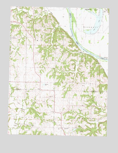 Oak Mills, KS USGS Topographic Map