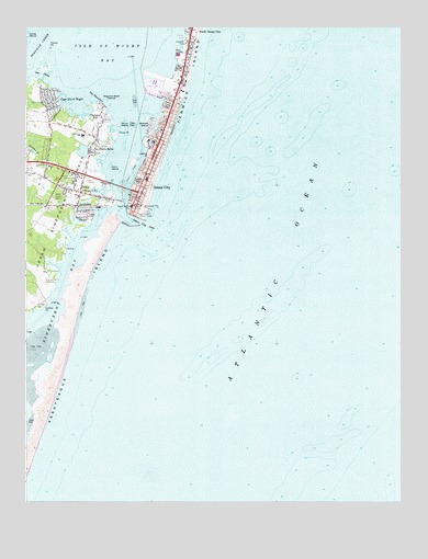 Ocean City MD Topographic Map TopoQuest - Ocean city md map