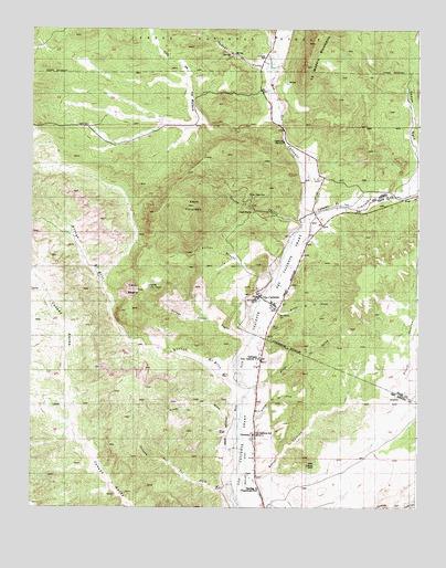 Ojo Caliente New Mexico Map.Ojo Caliente Nm Topographic Map Topoquest
