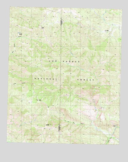 Old Man Mountain, CA USGS Topographic Map