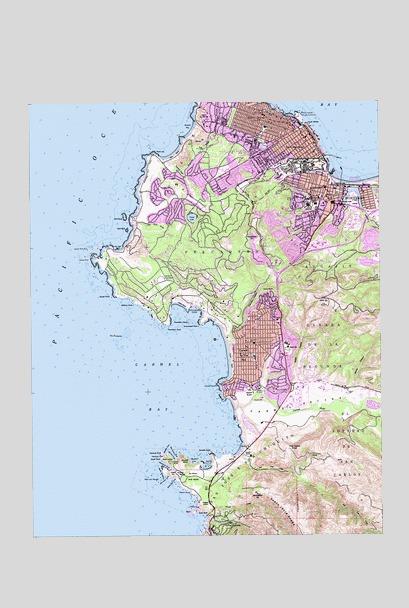 Monterey Ca Topographic Map Topoquest