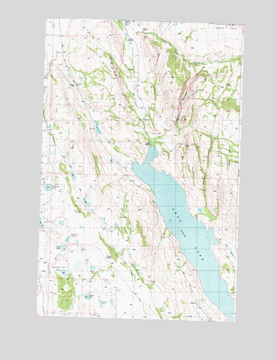 Omak Lake, WA USGS Topographic Map