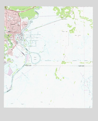 Orange, TX USGS Topographic Map