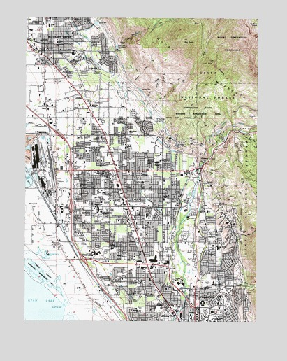Orem UT Topographic Map TopoQuest - Topographic map of utah