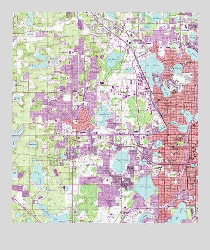 Orlando West FL Topographic Map TopoQuest - Florida topographic map free