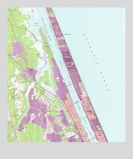 Map Of Ormond Beach Florida.Ormond Beach Fl Topographic Map Topoquest
