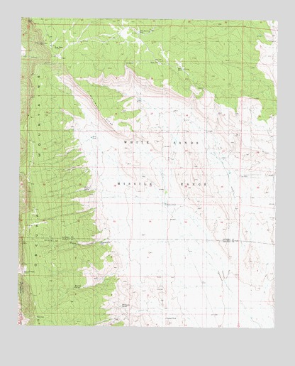 Oscura Peak, NM USGS Topographic Map