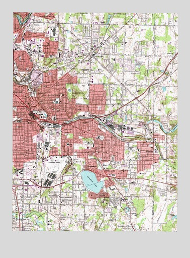 Topography Map Of Ohio.Akron East Oh Topographic Map Topoquest