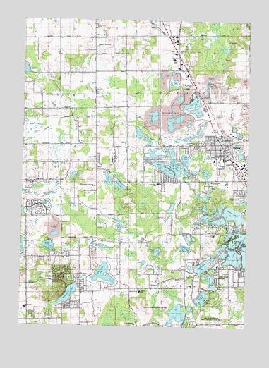 Oxford, MI Topographic Map   TopoQuest