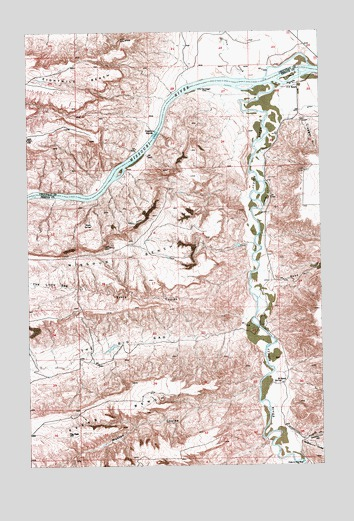 P N Ranch, MT USGS Topographic Map