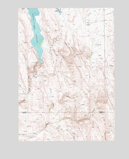 Paddock Valley Reservoir, ID USGS Topographic Map