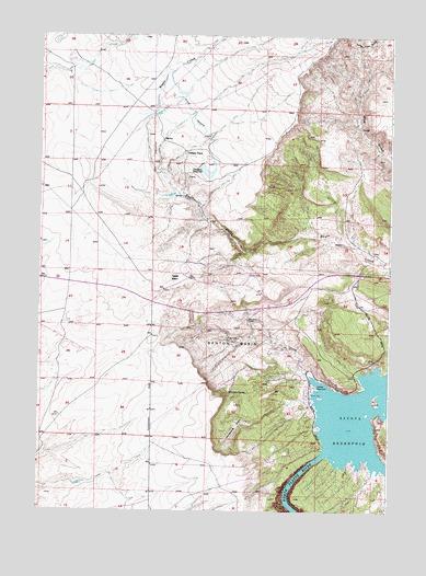 Benton Basin WY Topographic Map  TopoQuest