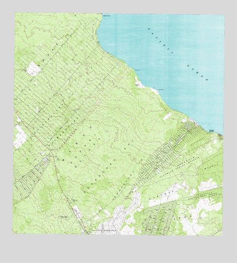 Pahoa North, HI USGS Topographic Map