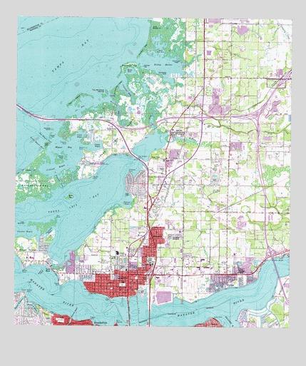 Palmetto Florida Map.Palmetto Fl Topographic Map Topoquest