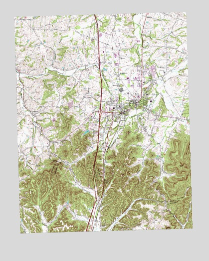 Berea, KY Topographic Map - TopoQuest