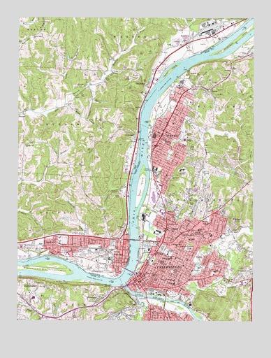 Parkersburg WV USGS Topographic Map