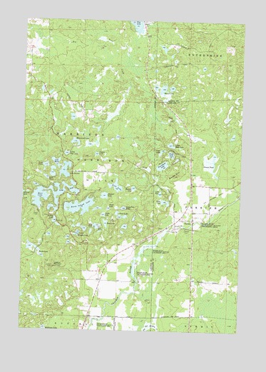 Parrish, WI USGS Topographic Map