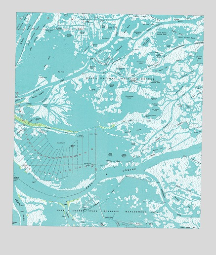 Pass a Loutre West, LA USGS Topographic Map