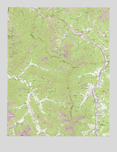Pax, WV USGS Topographic Map