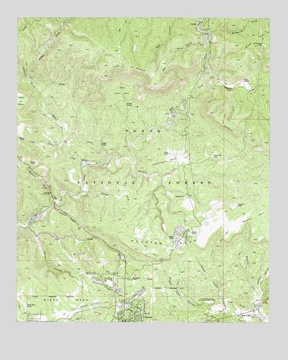 Payson North, AZ Topographic Map - TopoQuest