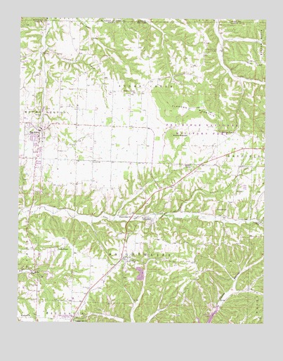 Pea Ridge, AR USGS Topographic Map