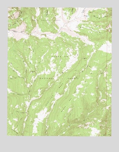 Pecos Falls, NM USGS Topographic Map
