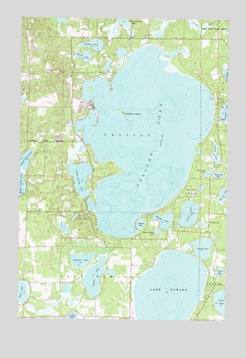 Pelican Lake, MN USGS Topographic Map