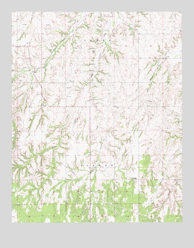 Phroso, OK USGS Topographic Map