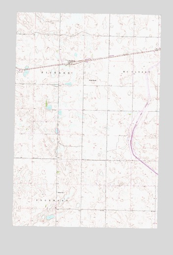 Pickardville, ND USGS Topographic Map