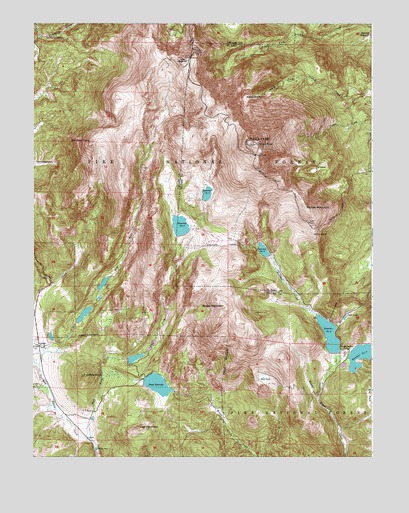Pikes Peak, CO USGS Topographic Map