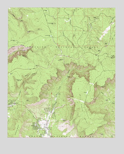 Pine AZ Topographic Map TopoQuest - Arizona topographic map
