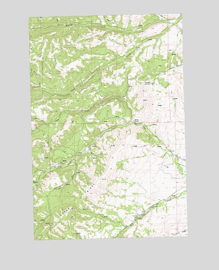 Pine Mountain, WA USGS Topographic Map