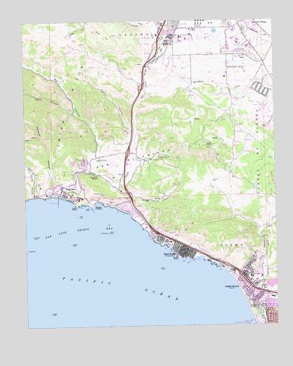 Pismo Beach Ca Topographic Map Topoquest