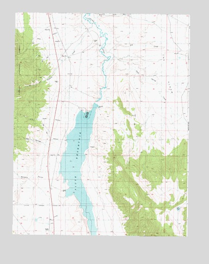 Piute Reservoir, UT USGS Topographic Map