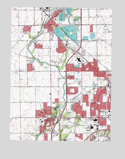 Plainfield Il Topographic Map Topoquest