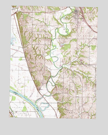 Platte City, MO USGS Topographic Map