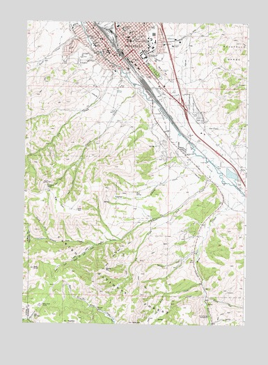 Pocatello South, ID Topographic Map - TopoQuest