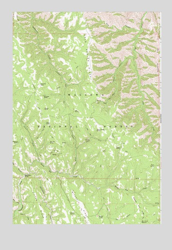 Poison Point, OR USGS Topographic Map
