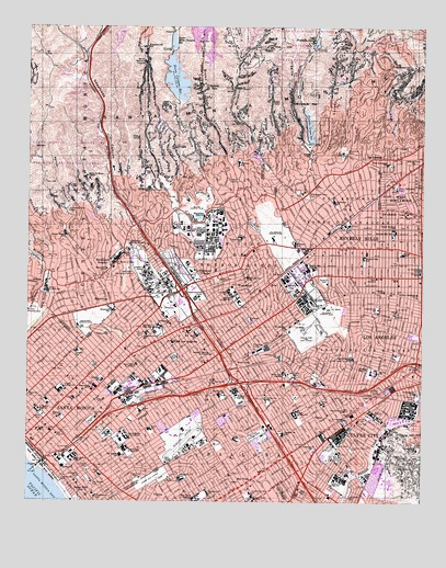 Beverly Hills, CA USGS Topographic Map
