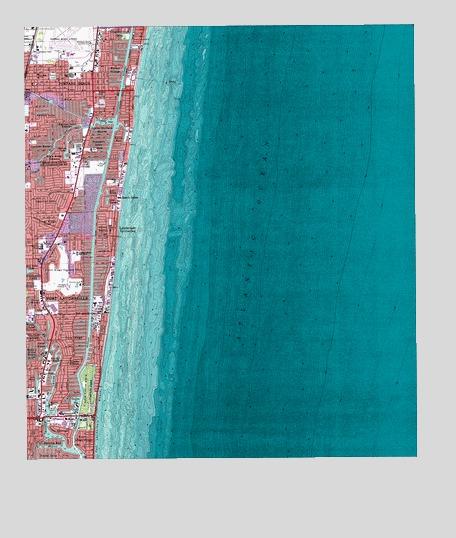 Map Of Pompano Beach Florida.Pompano Beach Fl Topographic Map Topoquest