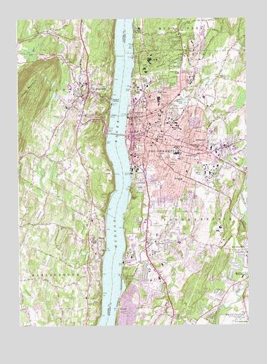 Poughkeepsie, NY Topographic Map - TopoQuest