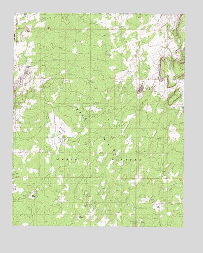 Poverty Flat, AZ USGS Topographic Map