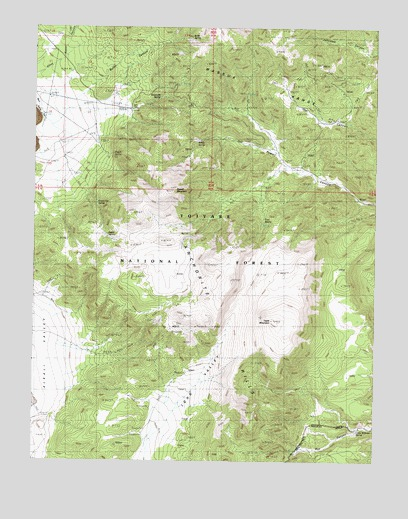 Powell Mountain, NV USGS Topographic Map