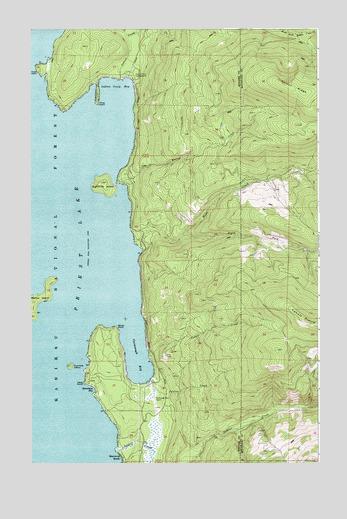 Priest Lake SE, ID Topographic Map - TopoQuest