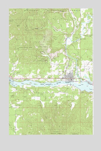 Priest River, ID USGS Topographic Map