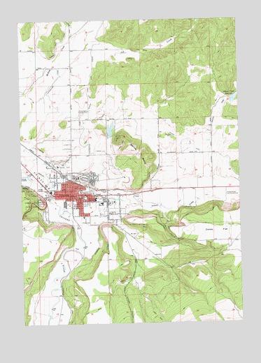 Prineville Or Topographic Map Topoquest