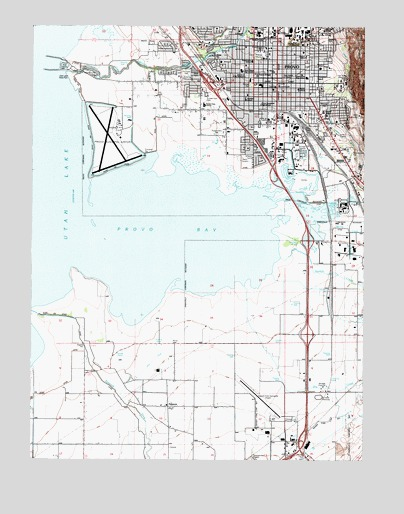 Provo Ut Topographic Map Topoquest